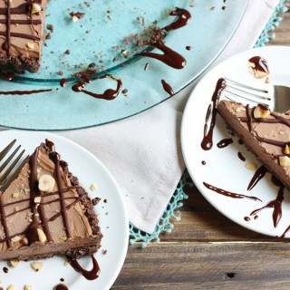 chocolate hazelnut mousse tart