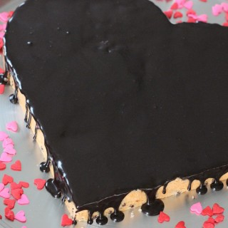 chocolate covered cherry heart cake