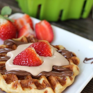 liege waffles with nutella whipped topping