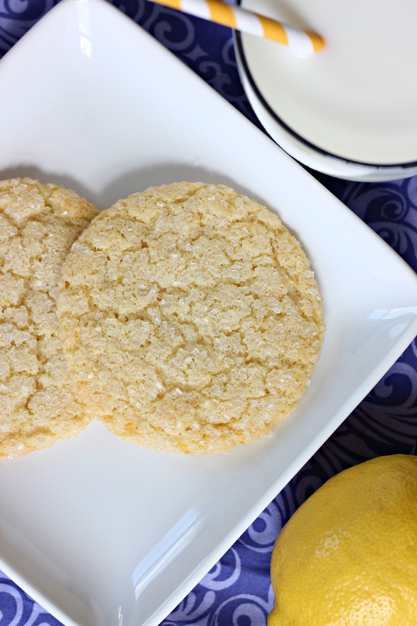 Gluten-Free Lemon Sugar Cookies - A gluten-free, lemony twist on the classic sugar cookie recipe! A light, chewy, and addicting treat! | www.worthwhisking.com