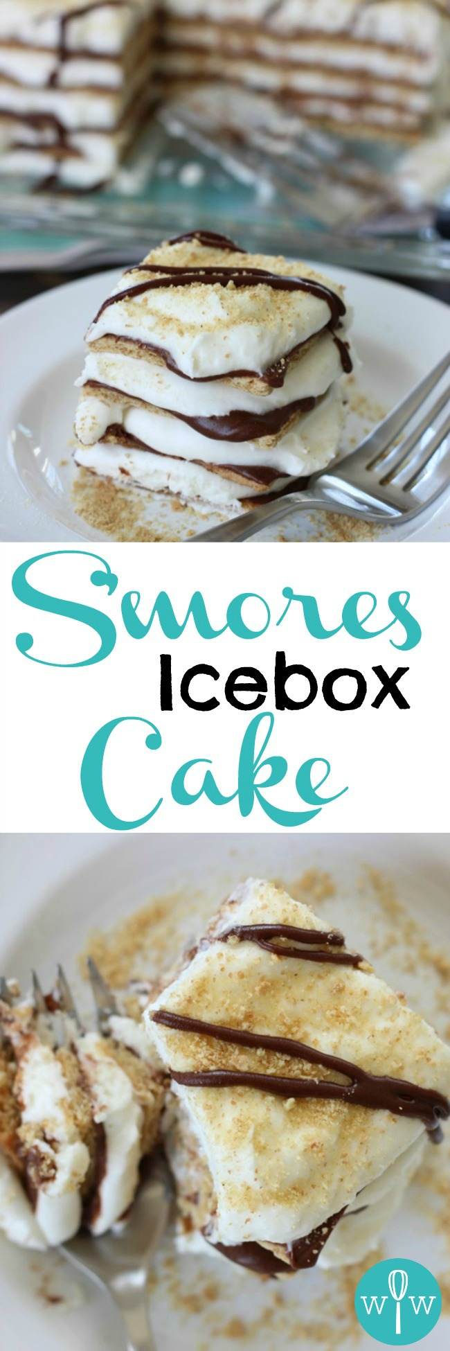 S'mores Icebox Cake - A simple, yet decadent dessert with luscious layers of graham crackers, creamy milk chocolate, and fluffy marshmallow whipped cream. This recipe is impressive but SO easy! | www.worthwhisking.com