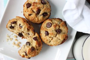 Peanut Butter Coconut Chocolate Chip Muffins