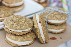 Maple Bacon Oatmeal Whoopie Pies