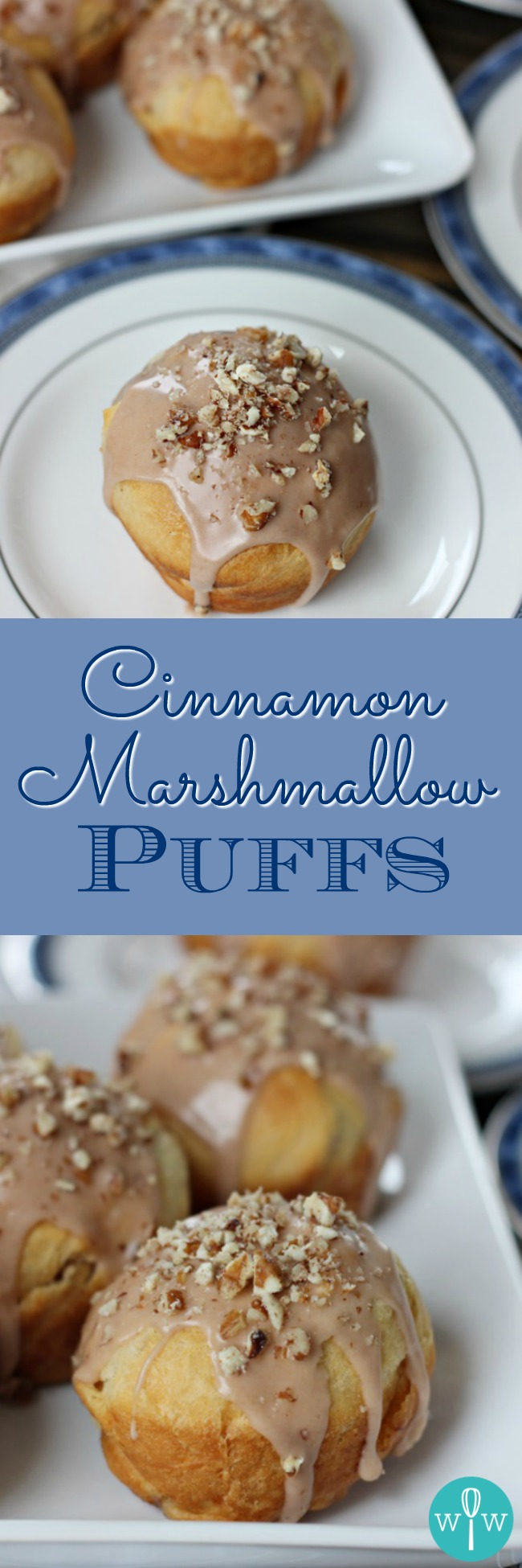 Cinnamon Marshmallow Puffs – Crescent rolls combine with marshmallows, cinnamon, and sugar to create a super easy twist on the classic cinnamon roll. | www.worthwhisking.com