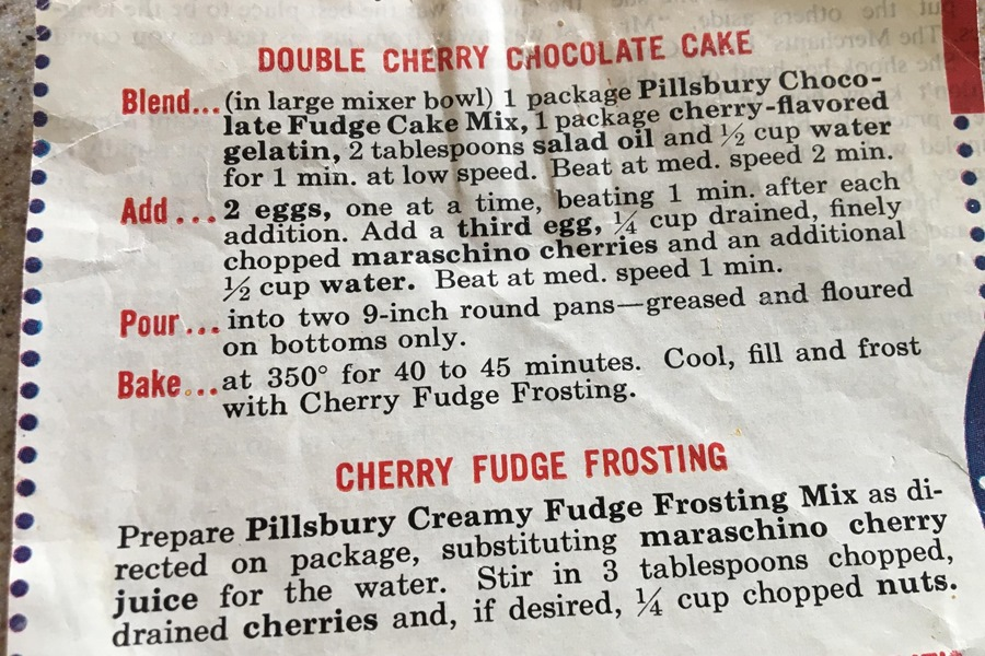 Double Cherry Chocolate Cake