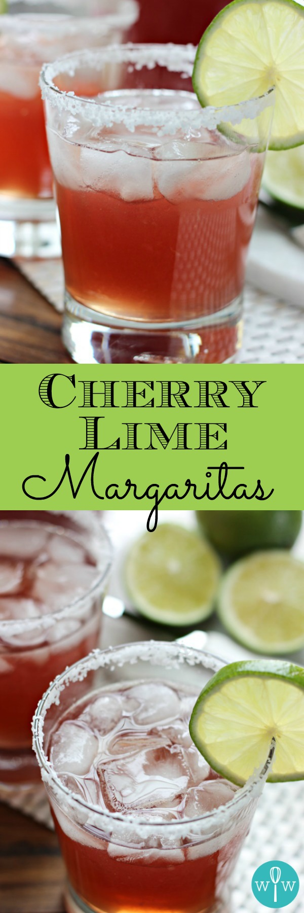 Cherry Limeade Margaritas – A super yummy margarita for those of us who couldn't get enough cherry limeade slushies as a kid! Get your fiesta on! | www.worthwhisking.com